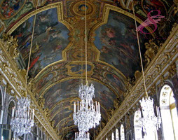 Ceiling of the Hall of Mirrors, Palace of Versailles, France