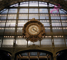 Clock in the Musee d'Orsay, Paris, France